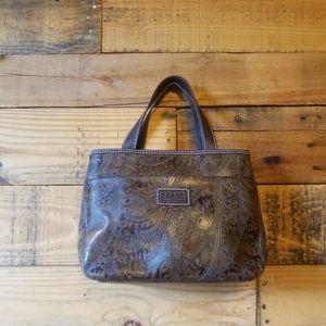 Fossil Brand Relic Paisley Embossed Handbag